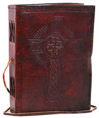 Celtic Cross leather w/ cord