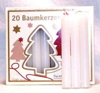 White Chime Candle 20pk