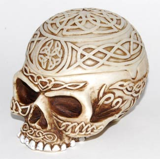 Celtic Skull Vessel
