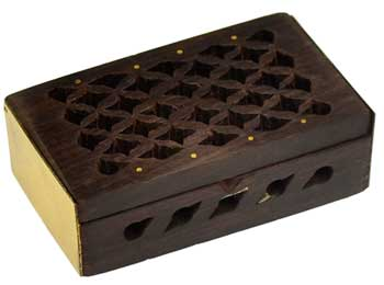 "Rosewood Filigree box 2 3/4"" x 1 3/4"""