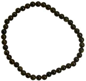 4mm Black Obsidian stretch