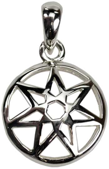 Small Seven-Pointed Fairy Star sterling
