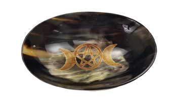 "5""x 3 1/2"" Triple Moon ritual bowl"