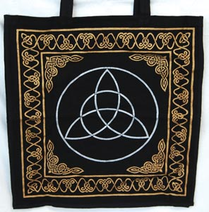 Gold and Silver Triquetra Tote