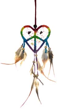 "3"" Love Peace dream catcher"