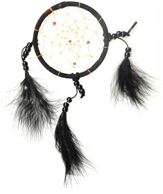 Black dream catcher 4""