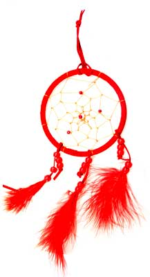 Red dream catcher 4""