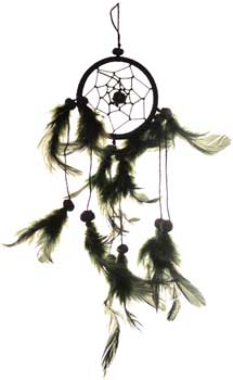 "3"" Black dream catcher"