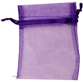 "2 3/4"" x 3"" Purple organza"