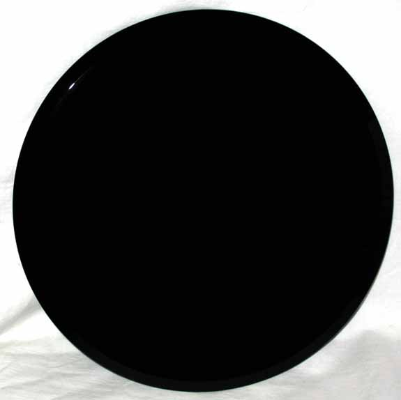 "12"" Beveled Black scrying mirror"