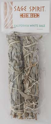 California White Sage smudge 3""