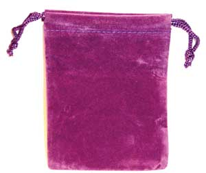 Bag Velveteen: 3 x 4 Purple