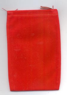 Bag Velveteen 4 x 5 1/2 Red
