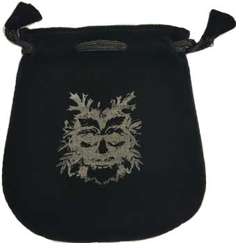 Green Man Velveteen Bag