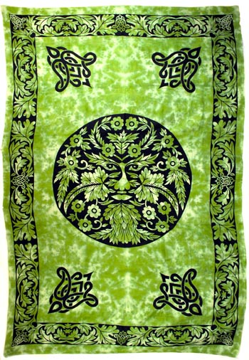 "Green and Black Green Man (72"" x 108"")"