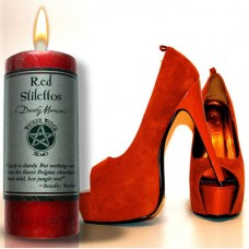 "Wicked Witch MoJo Candle "" Red Stilettos"""